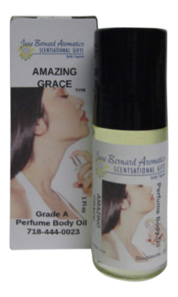 Jane Bernard Scented OilSimilar to Amazing Grace_Type Women Fragrance Body Oil_30ml, 1 ounce Jumbo Roll On_Plus 15ml Ounce Bonus Scented Lotion_Long lasting scent