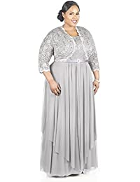 80615eab3b Women s Plus Size Formal Jacket Dress - Mother of The Bride Dress