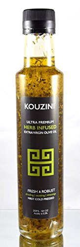 Kouzini Ultra Premium Infused Extra Virgin Olive Oil (250ML Bottle)