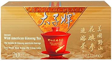 PRINCE OF PEACE Wild American Ginseng Inst Tea 20 Bag, 0.02 Pound