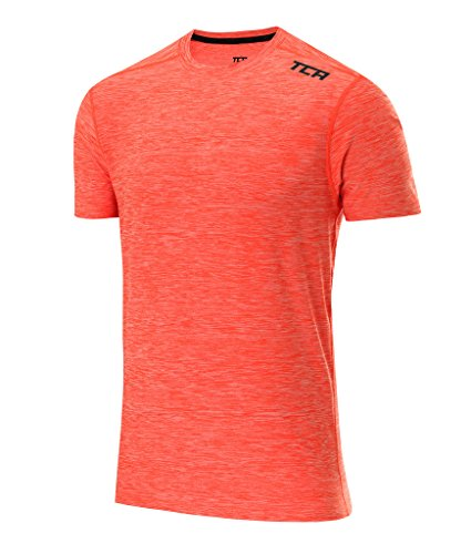 TCA Men's Galaxy Short Sleeve Training Top - Burnt Orange, (La Galaxy Training)