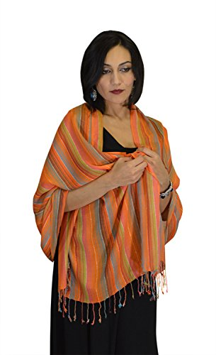 Moroccan Shoulder Shawl Breathable Oblong Head Scarf cotton Exquisite Wrap by Treasures of Morocco Shawls