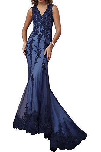 Promkleider Dunkel Damen Blau Meerjungfrau Rot Spitze Abendkleider Elegant Ballkleider Charmant Langes Neuheit 06vBAqqw