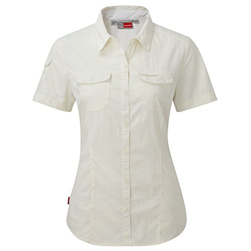 Craghoppers Womens/Ladies NosiLife Adventure Short Sleeve Shirt Sea Salt