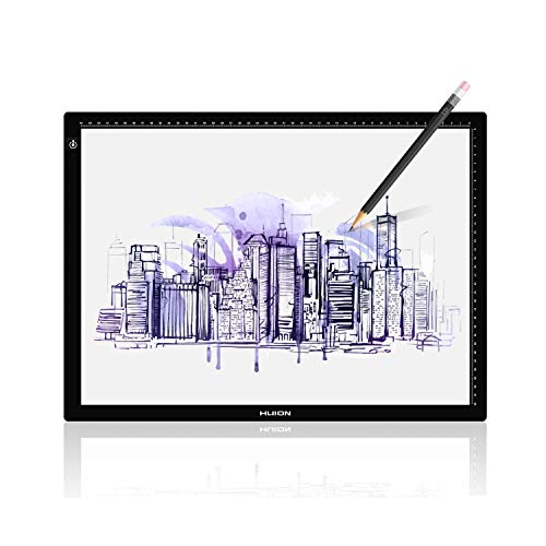 (Huion LA3 Portable USB LED Tracing Light Box Dimmable Brightness Tatto Light Pad)