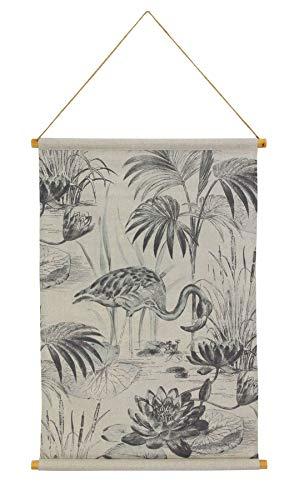 Habitat Lagoon Linen Hanging Tapestry Black