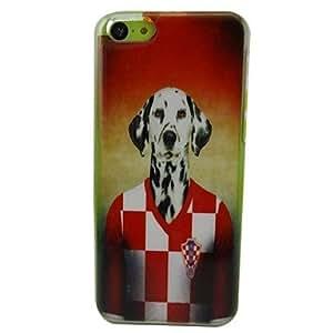 TOPMM Croatia Dog Pattern PC Back Case for iPhone 5C