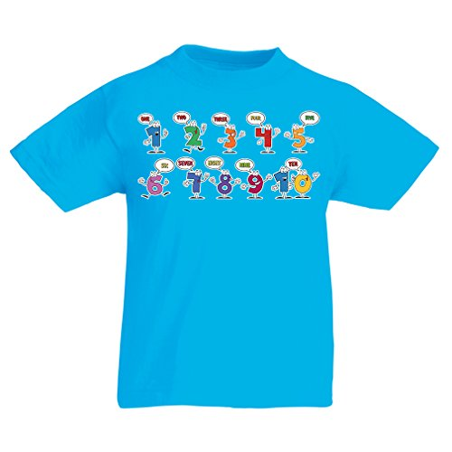 lepni.me T Shirts For Kids The Math - Make Learning Fun - I Love The Mathematics - Funny Gifts (9-11 Years Light Blue Multi (School Halloween Party Games 5th Grade)