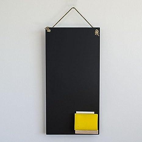 Pizarra para cocina (24 x 48 cm, con estante, tiza, cordón y ...