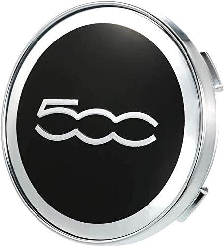 Seayahy 4 Pi/èces Embl/ème Badge de Voiture Capuchons de moyeu de Jante de,Capuchon de moyeu de Centre pour Fiat 500 /& 500C,Car Wheel Dust-Proof Covers Car Styling Accessori