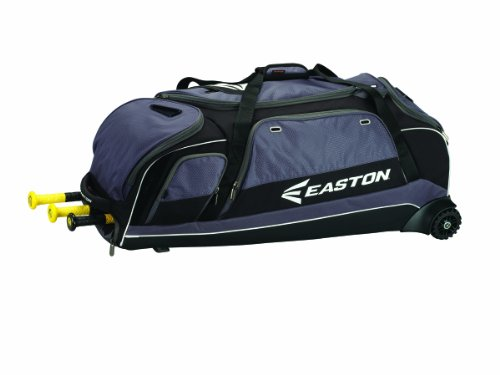 EASTON E900C Catchers Equipment & Bat Wheeled Bag | Baseball Softball | 2019 | Black | 3 Bat Compartment | Vented Pockets - Minimize Odor & Quick Dry | Lockable - Easton Kids Bag