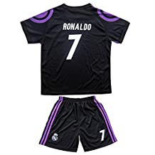 2015/2016 REAL MADRID #7 RONALDO KIDS AWAY SOCCER JERSEY & SHORTS YOUTH SIZES (10-11 YEARS)