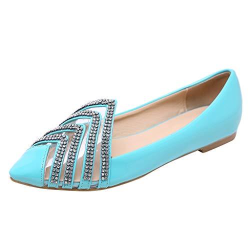 Longra Zapatos Planos cómodos para Mujeres, Parte Superior de Diamantes de imitación Transparentes, Zapatos Individuales: Amazon.es: Ropa y accesorios
