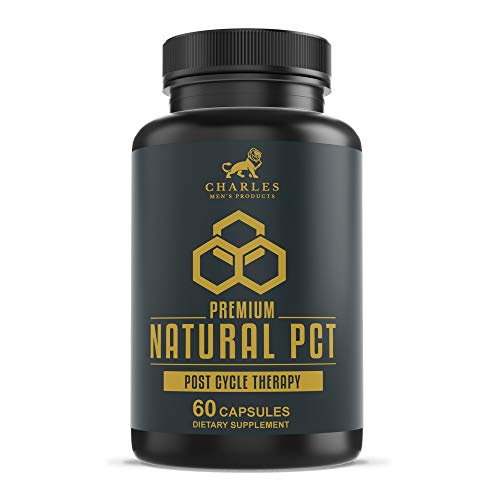 Charles Premium Natural PCT | Supports Natural Testosterone Production, Regulates Hormone Levels and May Increase Muscle Mass | Post Cycle Therapy Supplement with Resveratrol, Fenugreek, Milk Thistle