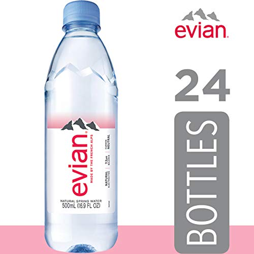 Image of evian Natural Spring Water , Naturally Filtered Spring Water in Individual-Sized