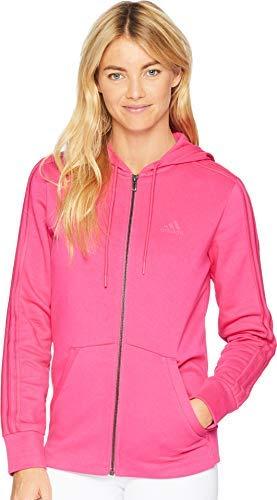 adidas Athletics Essentials Cotton Fleece 3 Stripes Full-Zip Hoodie, Real ()
