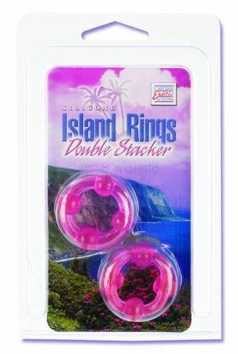 Amazon.com: California Exotics Silicone Island Rings Double Stacker, Pink: Health & Personal Care