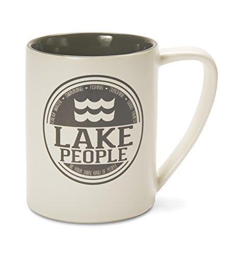 Pavilion Gift Company 67002 Lake People Ceramic Mug, 18 oz.,