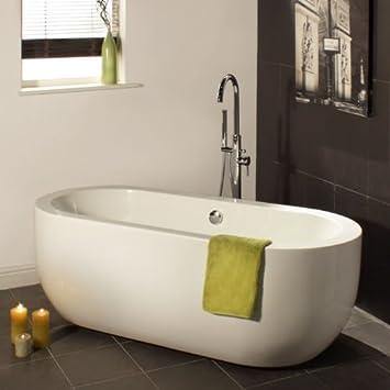 Vasca bagno acrilica freestanding centro stanza autoportante ovale ...