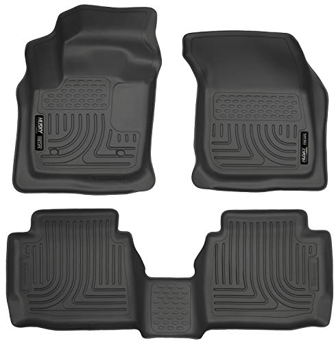 Husky Liners 99751 Black Weatherbeater Front & 2nd Seat Floor Liners Fits 2013-2016 Ford Fusion Energi/Titanium, 2013-2016 Lincoln MKZ