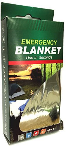 84' x 53' Premium Emergency Thermal Heat Blanket - First Aid Heat Retention Cold Weather (2)
