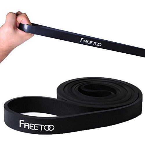 [Resistance Band] FREETOO® Fitnessbänder Widerstand Bänder gummi Pull-Up Trainingsbänder Klimmzughilfe für Yoga Muskelaufbau Krafttraining in 5 Stärken,Schwarz