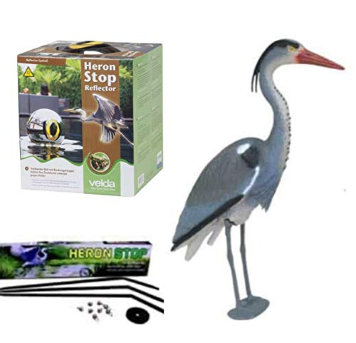 Ultimate Pond Protection Kit, Includes Blue Heron Decoy, Heron Stop & Heron Reflector