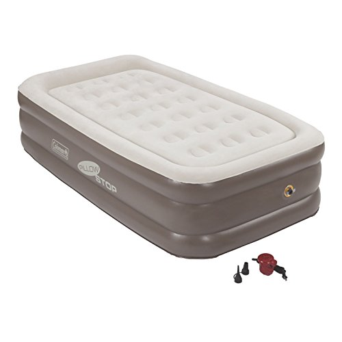 Coleman SupportRest Plus PillowStop Double-High Airbed (Coleman Twin Double High Air Mattress With Pump)