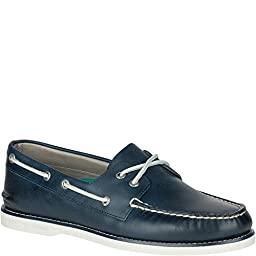 Sperry Gold A/O Cross Lace Blue Mens Boat Shoes Size 12M