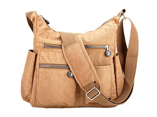 Nodykka Crossbody Bags for Women Shoulder Travel Purse Nylon Messenger Satchel Lightweight Handbag With Multi Pocket