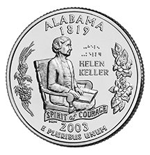 2003 D Alabama State Quarter Choice Uncirculated