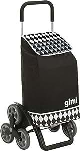 Gimi Shopping Trolley Optical Black, Checkered