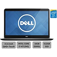 Dell XPS 15.6 High Performance Laptop PC - 15.6 QHD+ WLED Touchsreen, Intel Quad-Core i7-4712HQ Processor, 16GB RAM, 512G SSD, 2GB Nvidia GT750M, Wireless AC, Backlit Keyboard, Windows 8.1