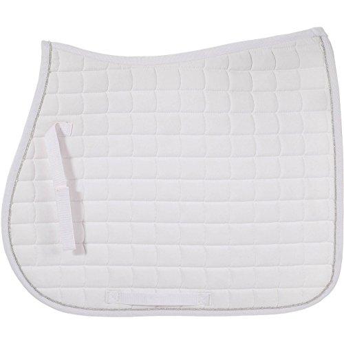 Horze Quick Dry Anti Slip Lining All Purpose Saddle Pad White Full (All Saddle Saddle Purpose English Pads)
