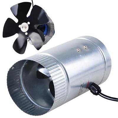 "Light Weight Indoor Garden 4"" 120 CFM Inline Duct Booster Vent Fan Blower Aluminum Blade"