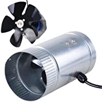 Light Weight Indoor Garden 4 120 CFM Inline Duct Booster Vent Fan Blower Aluminum Blade