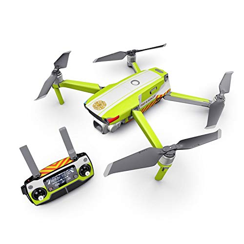 Rescue Decal Kit for DJI Mavic 2 Drone - Includes 1 x Drone/Battery Skin + Controller Skin from DecalGirl