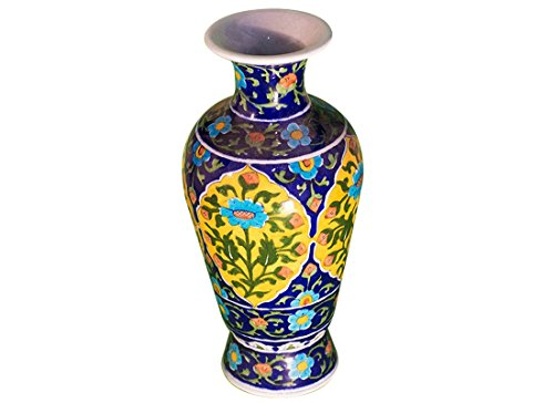 Blue Pottery Flower Vase | Best Flower Vase | Flower Vase for Living Room | Flower Vase Decorative |