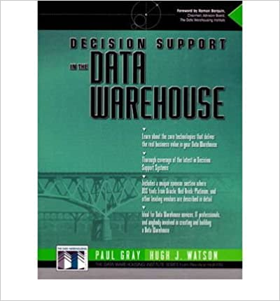 Book Decision Support In The Data Warehouse
