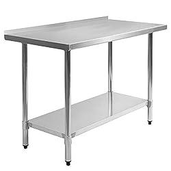 24 x 48 Stainless Steel Work Prep Table with Backsplash Kitchen Restaurant