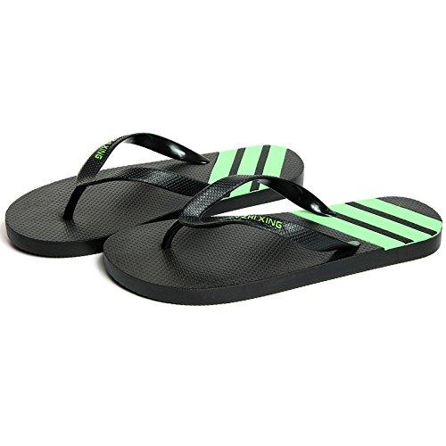 41 Zapatillas Verde Personalidad un Ocio de Macho Libre Verano Sandalias al Aire Son Negro Antideslizante en fankou Marea Estudiantes Frescos de Playa 42 x1XwBU1qWE