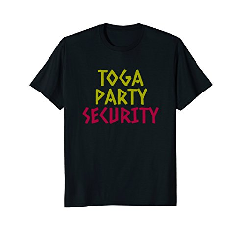 Toga Party Security Shirt, Toga Party Costume, Frat Shirts ()