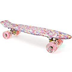 """Fully Assembled Complete Board  Easy and Ready to Ride! Specification:   Deck: 22'' Long x 6'' Wide Plastic Single Kick Board  Material: High Quality PP  Wheels: 60*45mm PU wheel 78A  V-truck and base: 3.25"""" Heavy duty High quality Aluminum  ..."""