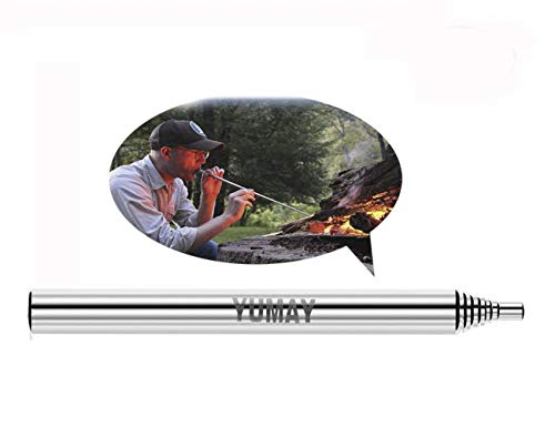 Yumay Collapsible Fire Tool Campfire Tool Pocket Bellow Builds Fire by Blasting Air,Outdoor Gear for Hunting Fishing Camping Traveling.