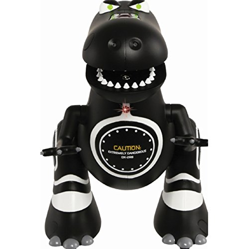 ROBOTOSAURUS! Sharper Image Infared Control Black Dinosaur, it can move forward and spins, good for Kids, 8-11 Years, and Teens, Unisex, Made out of plastic and requires AAA - Black Robot