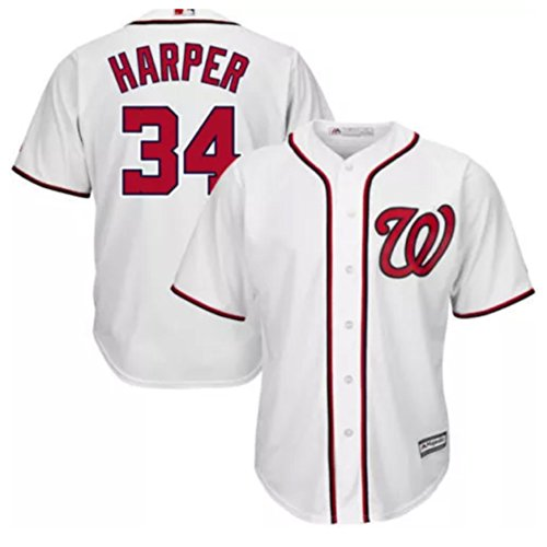 Bryce Harper Washington Nationals #34 MLB Youth White Cool Base Jersey (Youth Small 8)