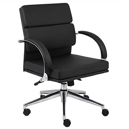 Boss Caressoft Plus Mid-Back Executive Chair, 38