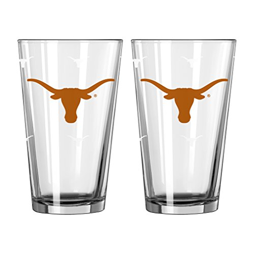 NCAA Texas Longhorns Color Changing Pint, 16-ounce, (Texas Longhorns Glass)