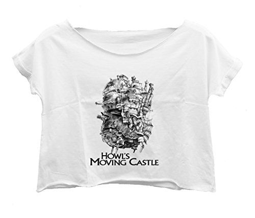 Lockeroom7 Women's Howl's Moving Castle T-Shirt Crop Top Shirt Tee