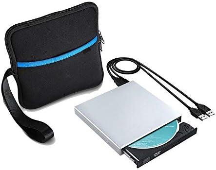 DVDドライブ USB 2.0外付けDVD光学ドライブCD DVD-ROMプレーヤーCD RWバーナーライターレコーダー YYFJP